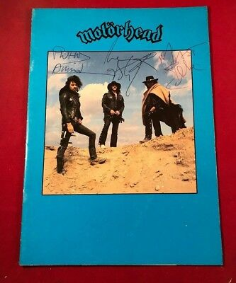 SIGNED MOTORHEAD AUTOGRAPHED 1980 UK TOUR book PROGRAMME LEMMY PHILTHY EDDIE