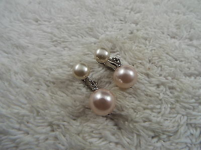 White Bead Clip-on Earrings (C21)