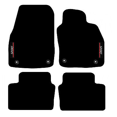 Tailored Carpet Car Floor Mats with logo FOR Vauxhall Astra H MK5 2004 to 2010