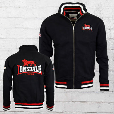 Lonsdale London Männer Sweatjacke Dover schwarz Zip Sweater Herren Men's Jacket