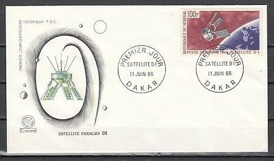 Senegal, Scott cat. C46. French Space Satellite D1. First day cover.