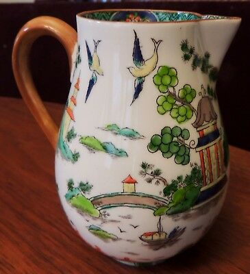 Vintage Crown Staffordshire Ye Olde Willow Small Pitcher/creamer Pattern #5356
