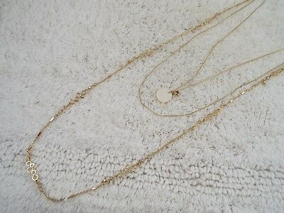 Goldtone Three Chain Mother of Pearl Pendant Necklace (C8)
