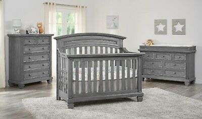 Richmond Brushed Gray 4 in 1 Convertible Crib