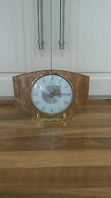 beautiful beautiful bentima antique wind up mantle clock -winds up from the back