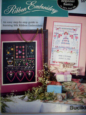 Beginner Basics in Ribbon Embroidery with instructions and transfers