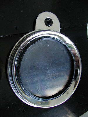 authentic stainless steel TAX DISC LICENCE HOLDER vintage motorcycle motorbikes