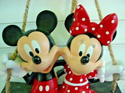 Disney MICKEY & MINNIE Mouse Swing Swinging Home Garden Patio Decor Hand Painted
