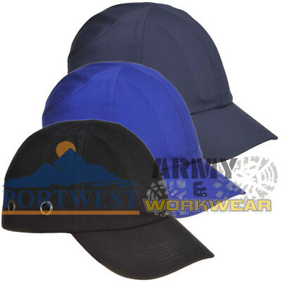 Portwest Bump Cap Hard Hat Safety Baseball Cap Helmet Mens Ladies Workwear
