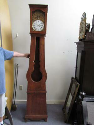 ANTIQUE late 1800s COUNTRY FRENCH GRANDFATHER TALL CASE CLOCK