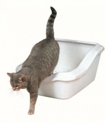 Trixie Cleany Cat Litter Tray With Rim, 45 X 21 X 54 Cm, White