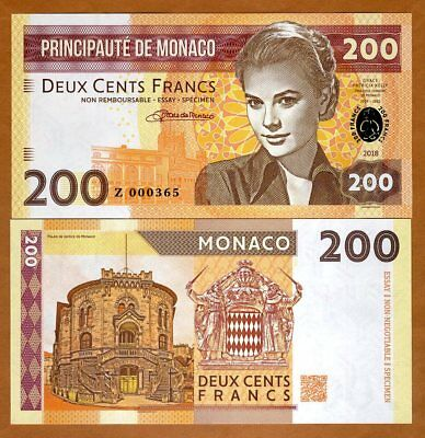 Monaco, 200 Francs, 2018 Private Issue > Grace Kelly