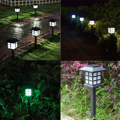 Solar Power LED Garden Landscape Light Fence Path Way Wall Mount Outdoor Lamp