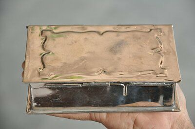 Old Brass 5 Compartment Nickel Plated Handcrafted Book Shape Betel Nut Box