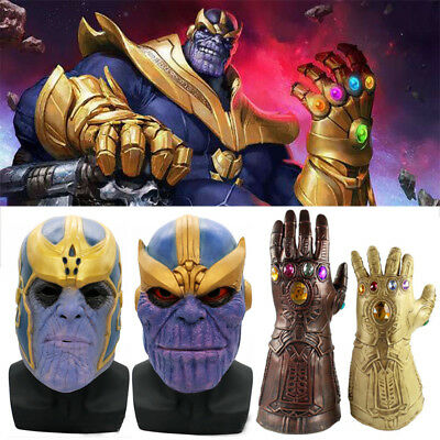 Thanos Infinity Gauntlet Glove Mask Cosplay 2018 Infinity War The Avengers Prop