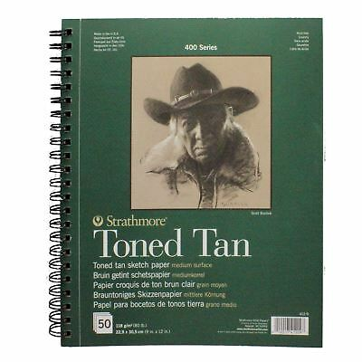 toned tan drawing pad sketch paper pastel charcoal Strathmore 50