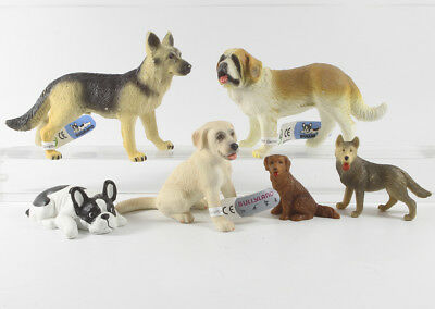 Hund Hunde === 6 x Tierfigur Haustiere Tiere Bully Bullyland