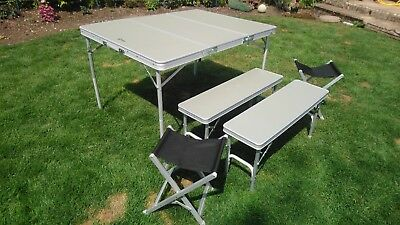 Hi Gear Elite Camping Picnic Table Set Benches And Stools