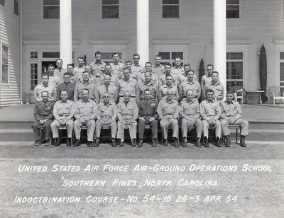 US Air Force Air-Ground Operation School Southern Pines Edward Sirois Photo 1954