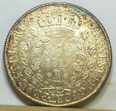 Brazil 960 Reis 1819-R Extremely Fine NO RESERVE