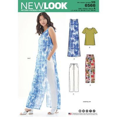 New Look Sewing Pattern Women's Tunic, Top And Trousers Size 8-18 6566