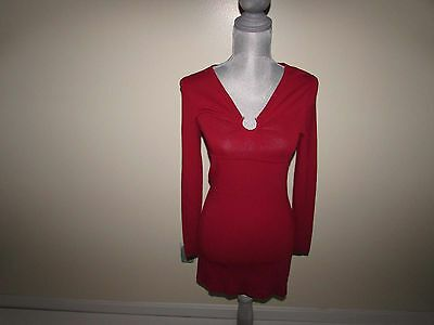 e128b0606f BCBG MAX AZRIA Women s Sheath Dress Small NWT Above Knee Long Sleeves Red S  LS -  19.99