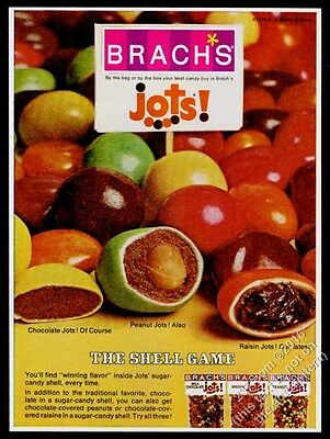 1970 Brach's Jots candy color photo vintage print ad