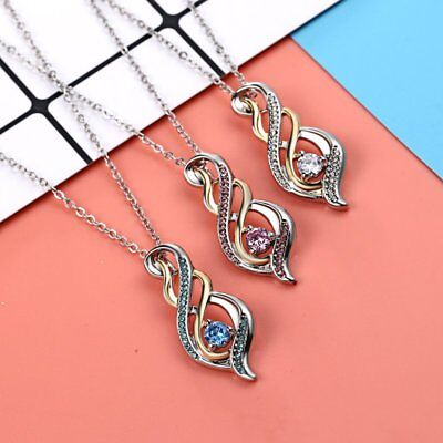 Fashion Women Dragonfly Waterdrop Necklace Pendant Crystal Sweater Chain Gift
