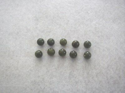 Connemara Marble dark Green 8 mm Beads, set of 10, Connemara Marble by Gerard
