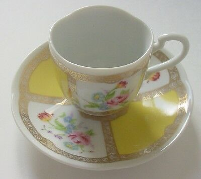 New 1985 Avon European Tradition Porcelain Cup & Saucer Floral Collection