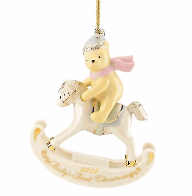 Lenox 2018 Winnie the Pooh Baby's First Christmas Ornament