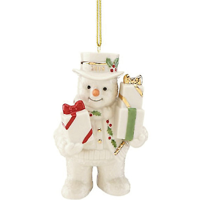 Lenox 2018 Happy Holly Days Gifts Galore Snowman Ornament