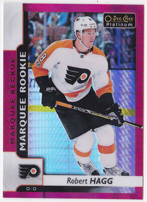 17-18 OPC Platinum Robert Hagg /199 Rookie RED Prism OPEECHEE Flyers 2017