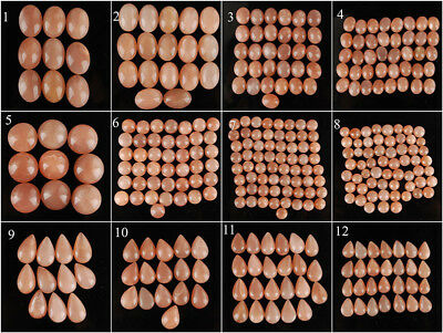 100% Natural Finest Peach Moonstone Cabochons ~ Sri Lanka ~ Wholesale Lots ~