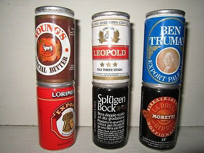 6 micro mignon miniature LATTINE BIRRA - BEER CANS