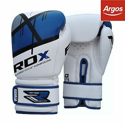 RDX Synthetic Leather 16oz Boxing Gloves - Blue.