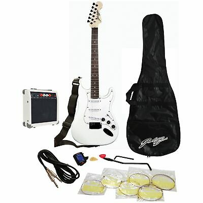 Johnny Brook Full Size Electric Guitar & Accessories - White