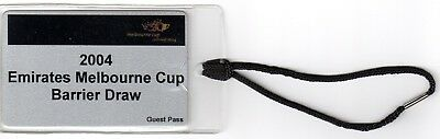 Rare 2004 Vrc Melbourne Cup Barrier Draw Guest Pass - Won By Makybe Diva