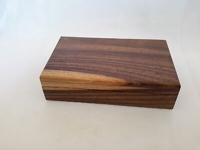 Wooden Jewellery Trinket Box hand crafted in Nottinghamshire