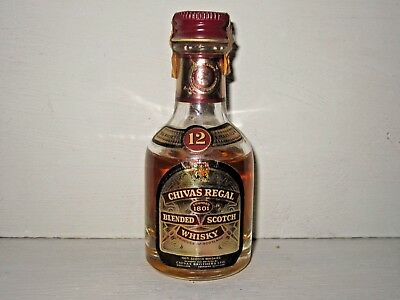 miniature mignon whisky CHIVAS REGAL  1801  -  12 years old