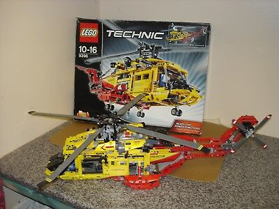 Boxed Technic Lego 9396 Rescue Helicopter Complete