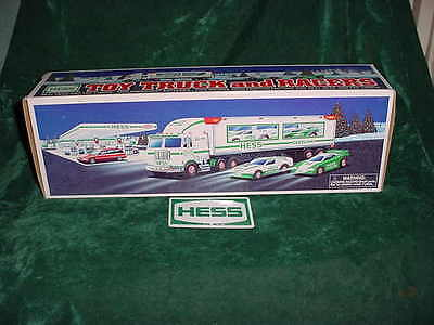 Christmas Xmas Holiday Mint 1997 Hess Toy Truck And Racers Truck Toys Truck Mib