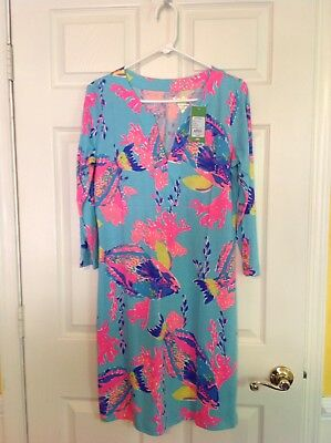 6f4993c81e81be LILLY PULITZER TILLA Dress in Sparkling Blue Fantastic - Size M ...