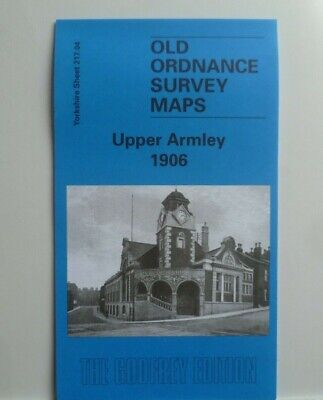 Old Ordnance Survey Detailed Maps Upper Armley Yorkshire 1906 Godfrey Edition