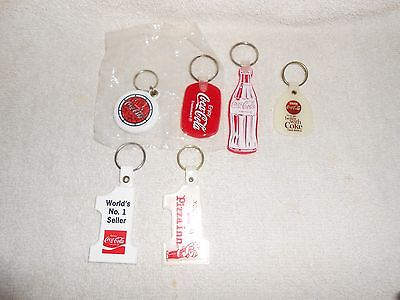 Coca-Cola--Lot of 6--Different Key chains