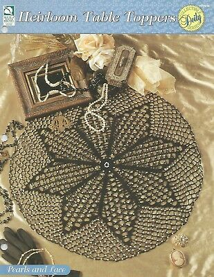 Pearls And Lace Table Topper Doily Heirloom Table Toppers Crochet