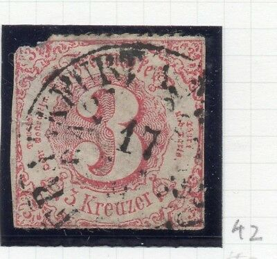 Germany Thurn & Taxis 1850s Early Issue Fine Used 3kr. 258512