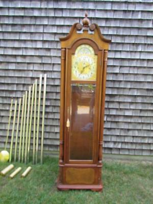 *VERY CLEAN* VINTAGE signed HERSCHEDE 9 TUBE GRANDFATHER CLOCK