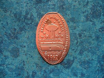 SEATTLE MONORAIL ESTABLISHED 1962 Elongated Penny Pressed Smashed 2