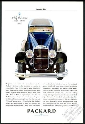 1931 Packard blue car Ask The Man Who Owns One vintage print ad
